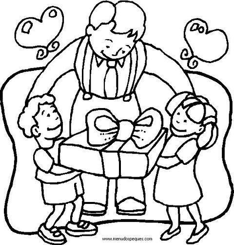 Dibujos para pintar del día del padre